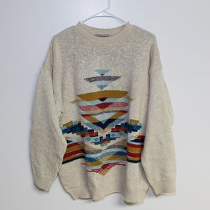 Bullock&Jones Vtg Mens XL Silk Cotton Sweatshirt